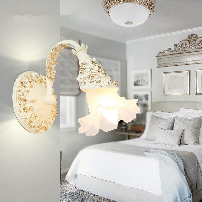 European conventional resin sculpture Wall Lamp Bedroom wall light Doorways wall lamp Bathroom wash mirror lighting,AC110-240V