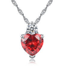 Atreus 3 Colors Charms Zircon Heart love Women Pendant for jewelry making pendulum Silver Color necklace accessories