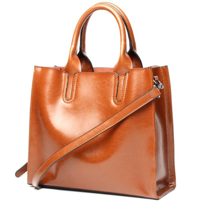 2019 New Elegant Women 39 s Handbags Luxury Brand Women Shoulder Bag Soft Leather TopHandle Bags Ladies Handbag High Quality bag in Shoulder Bags from Luggage amp Bags