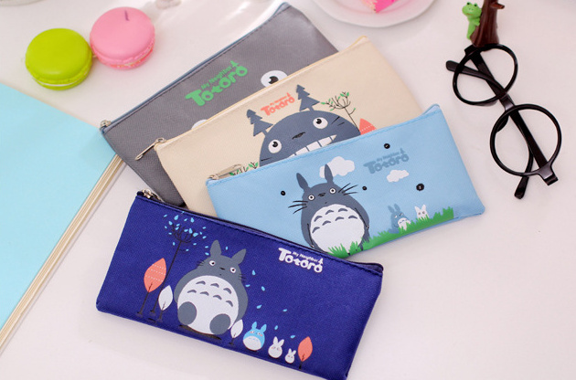 HOT 4Colors Super Kawaii NEW TOTORO 19*9CM Gift BAG Case Pouch ; Cosmetics Purse BAG & Wallet Coin Holder Pouch