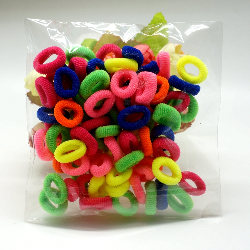 Hot Sale 80pcs/pack Gum for Hair Rubber Band Baby Girl Cotton Hairband Colorful Child Kids Elastic 9 Colors Nice Accessories 100pcs lot cute candy fluorescence kids girl elastic hair bands ponytail holder hair rubber band rope ties gum scrunchies
