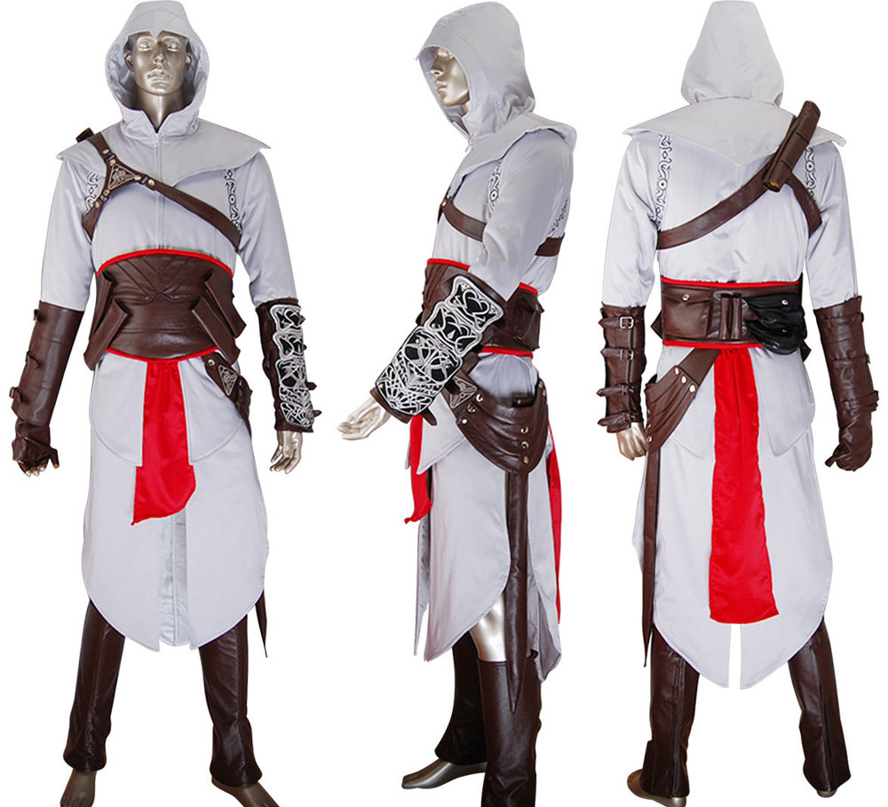 AC Altair font b Hoodie b font Outfit Uniform Halloween Comic con Anime Cosplay Costume Christmas