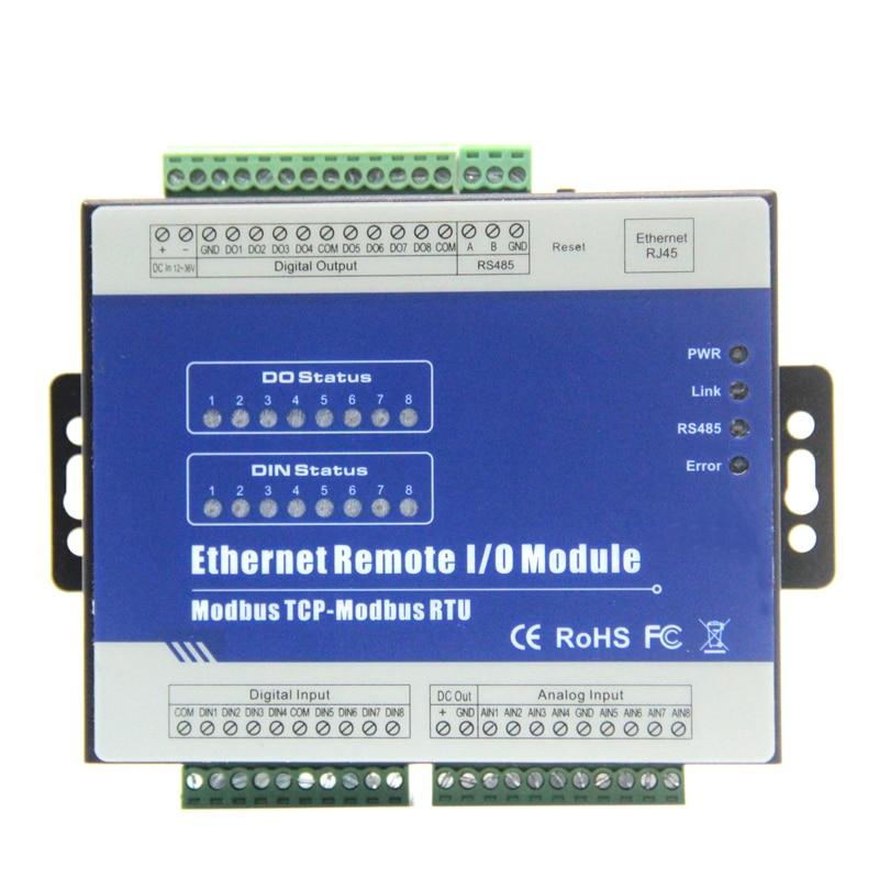 Ethernet Dati Logger con Rs485 Modbus RTU Modbus TCP Convertitori 8 isolato ingressi Analogici 8 uscite A Relè M160T