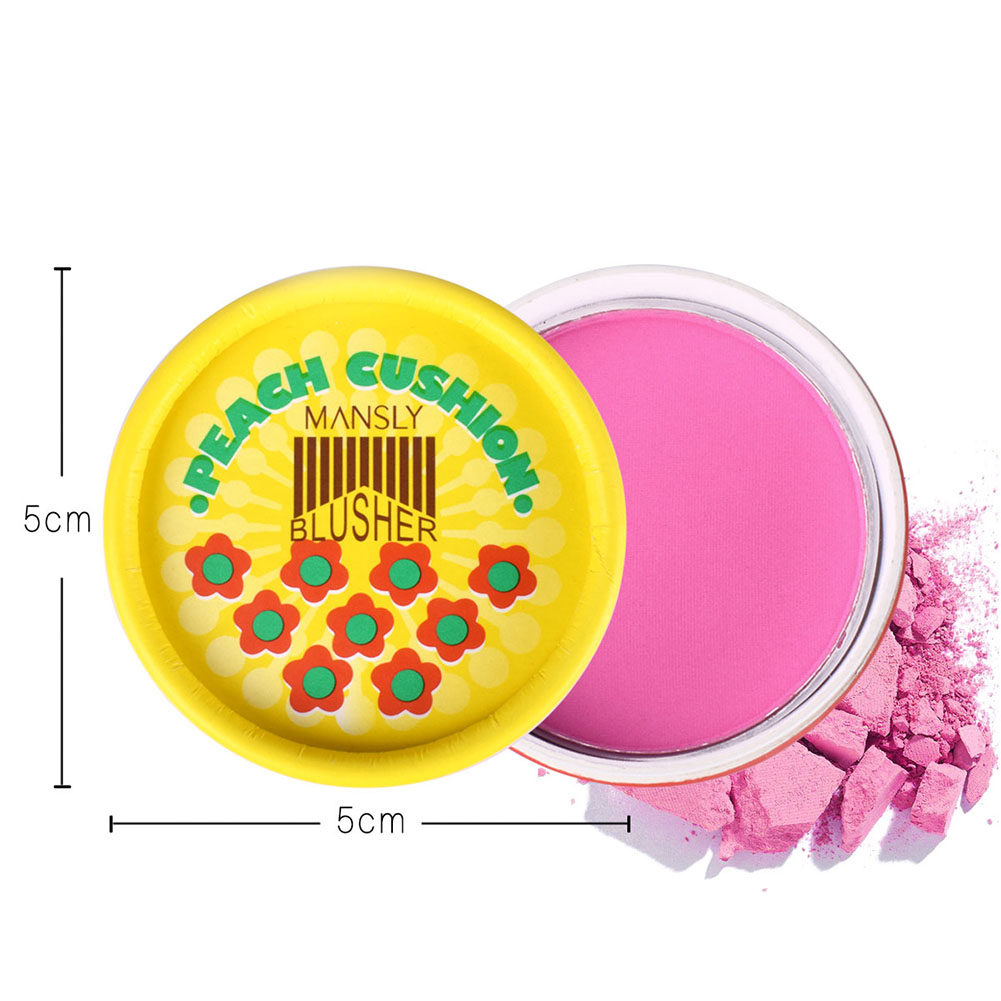 Online Shop Bioaqua New 4 Color Blusher Waterproof Pigment Modified Peach Pink 02 Blush On Cushion Flawless Cheek Monochrome Natural Nude Makeup 3 Colors Beauty
