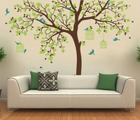 Romantic Flower Tree Vinyl Wall Stickers Decoration Nursery Room Decor Baby Room Wall Decal Perfect Quality Wallpaper D371C