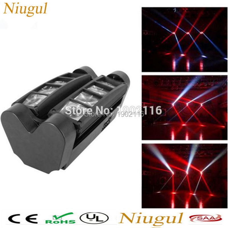 Niugul LED Moving Head light/Mini Led Spider Light 8x10w led Beam/dj disco RGBW dmx512 effect lighting/christmas holiday lights 2pcs 8 10w rgbw dj led spider beam moving head light 100 240v dmx stage lighting effect music disco show