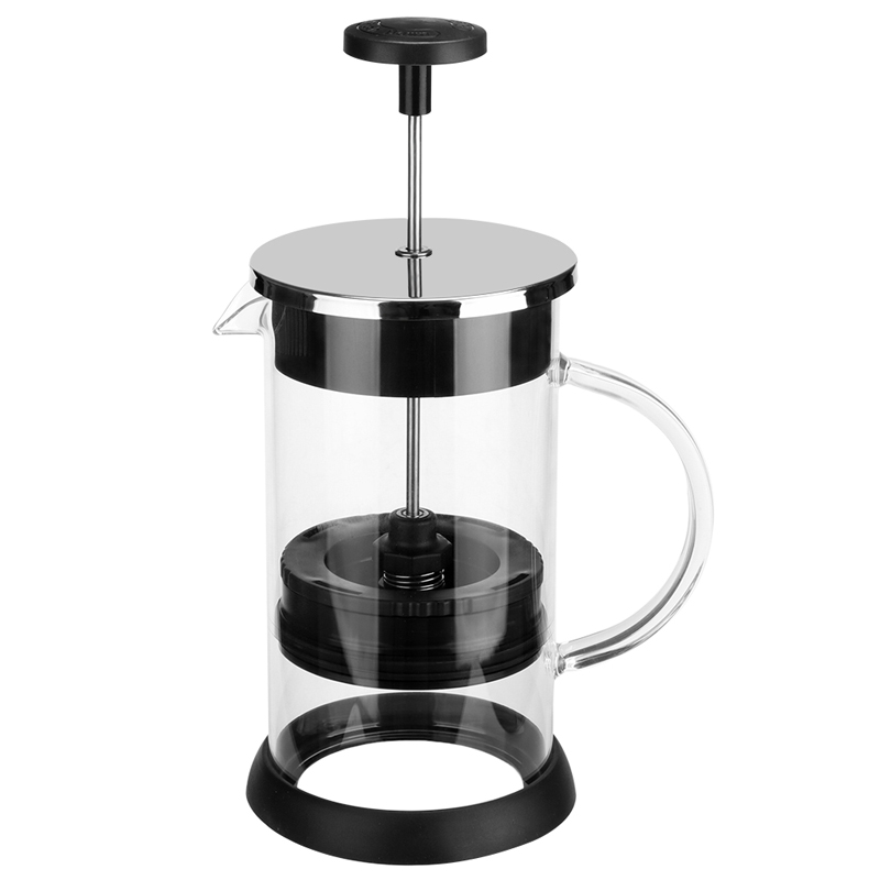 Home French Press Coffee Tea Pot Glass Manual Coffee Maker Brewer Filter System Office Espresso Accessories 1000ml portable coffee maker manual coffee making machine coffee filter hand travelling french press pot 350 pcs metal filter paper