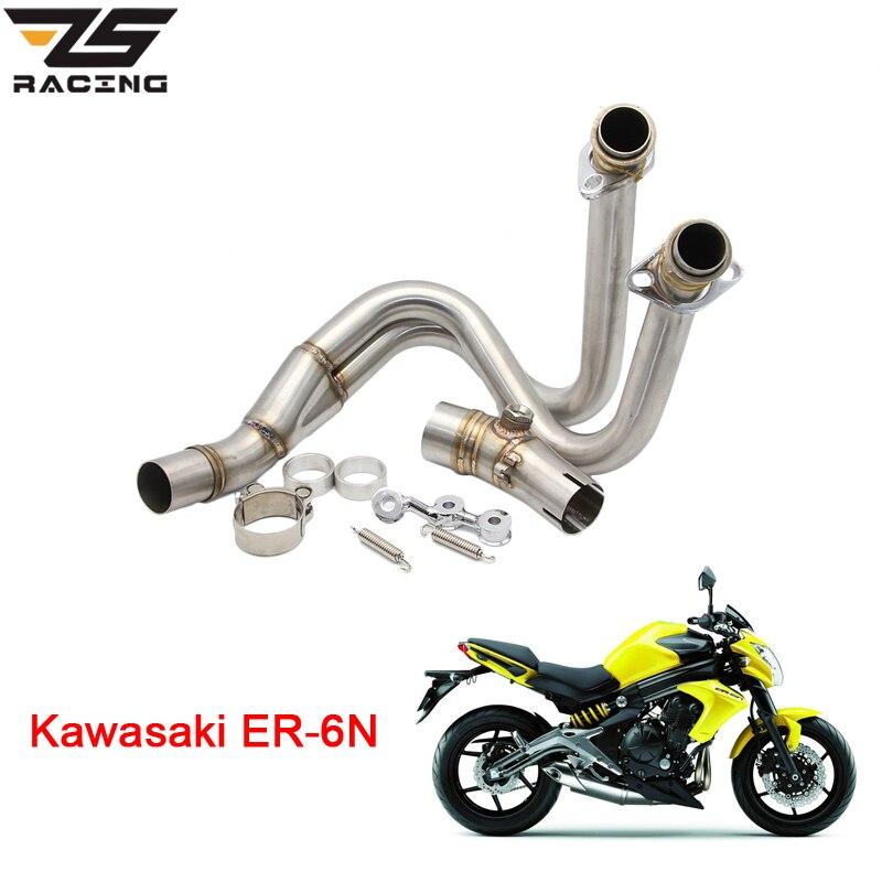 ЗС гонки модифицированный мотоцикл среднего выхлопной трубы Подключение трубы полная система Чехол для Kawasaki ER6N 2012-2014