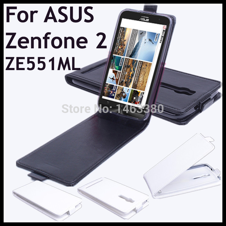 high quality leather case for asus zenfone 2 ze551ml flip. Black Bedroom Furniture Sets. Home Design Ideas