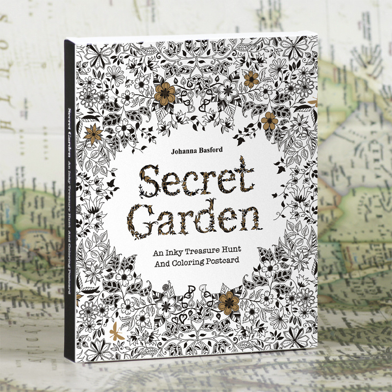 English Edition Secret Garden 30 Sheets Coloring Card  Tintage Postcards DIY Painting Drawing Book Colouring Books
