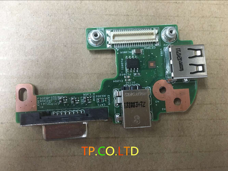 Original DC POWER JACK PORT VGA USB 2.0 IO BOARD FOR DELL INSPIRON N5110 48.4IF05.011 DQ15DN15 CRT BOARD fast free ship for gameduino for arduino game vga game development board fpga with serial port verilog code