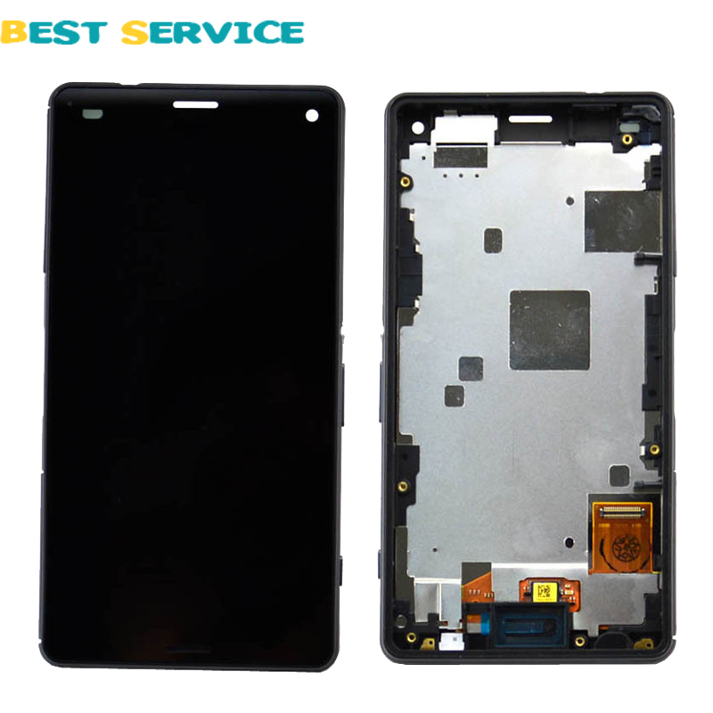 ФОТО For Sony Xperia Z3 Compact Z3 mini D5803 D5833 LCD Display + Touch Screen Digitizer Assembly with Frame+Tools Free Shipping