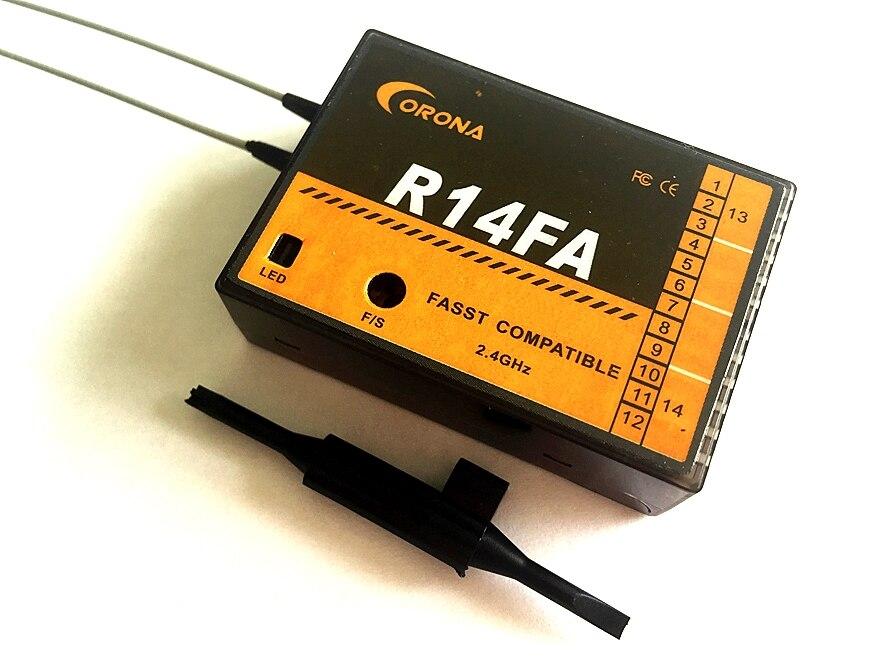 Corona R14FA FASST Compatible 2 4Ghz 14Ch Receiver For FUTABA Transmitter 12FG
