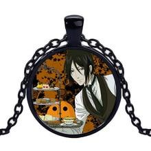 Black Butler Kuroshitsuji Ciel Phantomhive Sebastian Grell Madame Anime Pendant Glass Cabochon Necklace