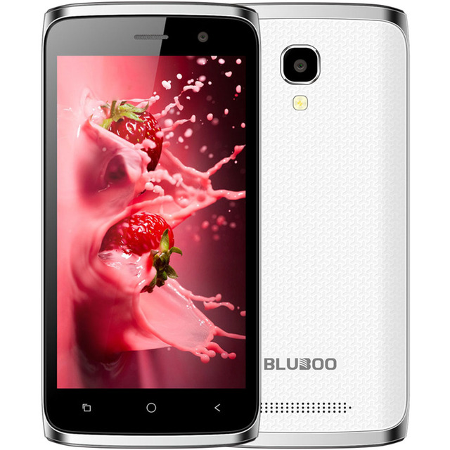 Original Bluboo Mini 4.5inch Android 6.0 OTG Smartphone 1GB RAM 8GB ROM MTK6580 Quad Core 1.3GHz 8.0MP 3G Mobile Phone