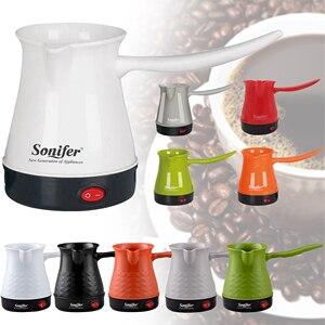 Image 2 - Mini Turkey Coffee Pot Coffee Machine Maker Portable Electrical Coffee Pot Boiled Milk Coffee Kettle for Gift 220V Sonifer