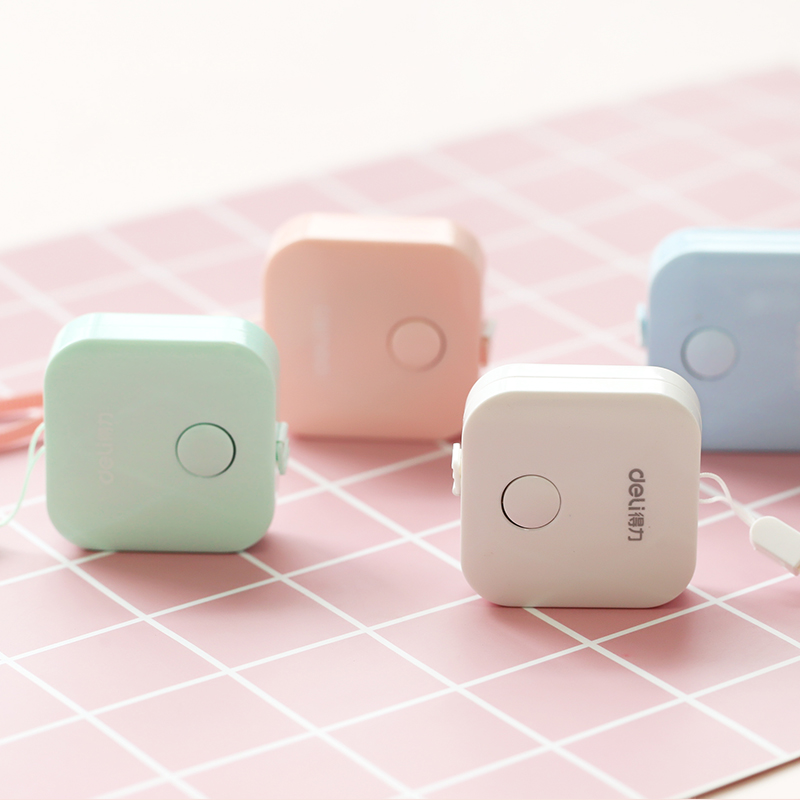 Jianwu 1.5m*7mm Tape Measure Macaron Candy Color Leather Ruler Box Portable Fashion Design School Supply #4
