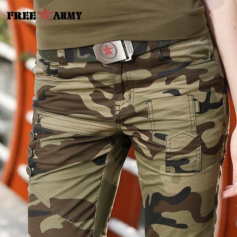 Moda Žene maskirne hlače ženske vojne tereta olovka pant Slim - Ženska odjeća - Foto 5