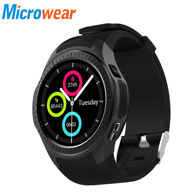 9ea38ee0a Microwear L1 Smartwatch Phone 1.3 inch Bluetooth GPS Heart Rate Measurement  Pedometer Sleep Monitor Sport Smart Watch PK G05