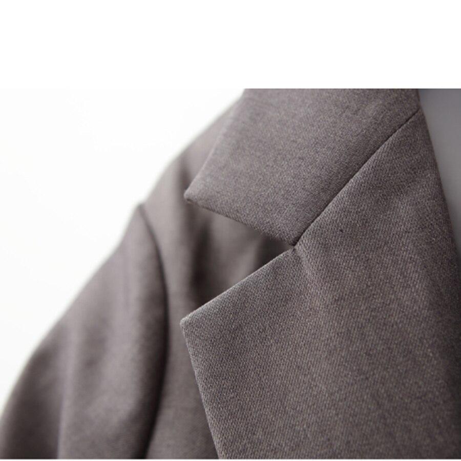 Pist çizgili blazer kadınlar ceket blazer Moda kravat bel ceketler - Bayan Giyimi - Fotoğraf 4