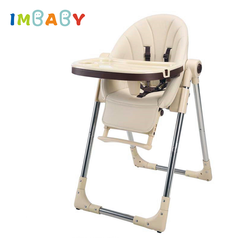 IMBABY Portable Children HighChair Multifunctional Baby Eating Seats Feeding Chair Adjustable Folding Chairs Food Tray Included 2017 direct selling high quality export aluminium frame baby feeding chair food tray included booster newborn seat can sleep