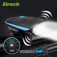 Sireck LEDจักรยานแสงไฟฉายกันน้ำจักรยานด้านหน้าแสงMTBขี่จักรยานไฟEclairage Veloกับเบลล์+ 1200มิลลิแอมป์ชั่วโ...