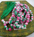Miss charm Jew974 Red Jade Mala Prayer Beads 108, crystal, Buddhist, meditation, japa, Hinduism