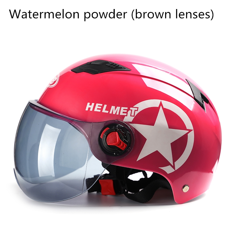 Latest Motorcycle Helmet Half Hood Adjustable Size Protective Helmet Helmet Pentagram