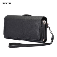 Juocan Fine Lichee PU Leather Cell Phone Bag For HUAWEI MATE 8 Horizontal Version High Capacity