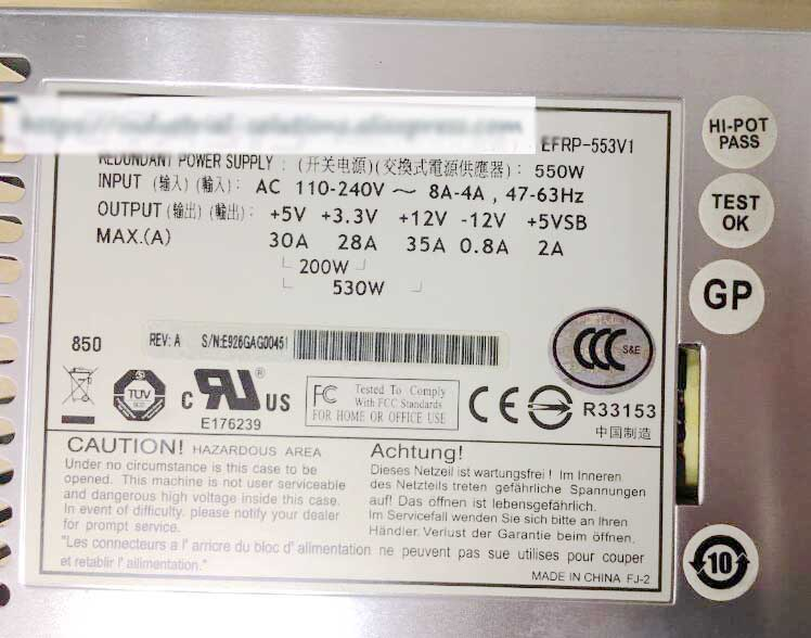 Original EFRP-553V1 550W server power supply for 1 year warranty workstation power supply dps 980ab for server pro a1186 980w original 95%new well tested working one year warranty