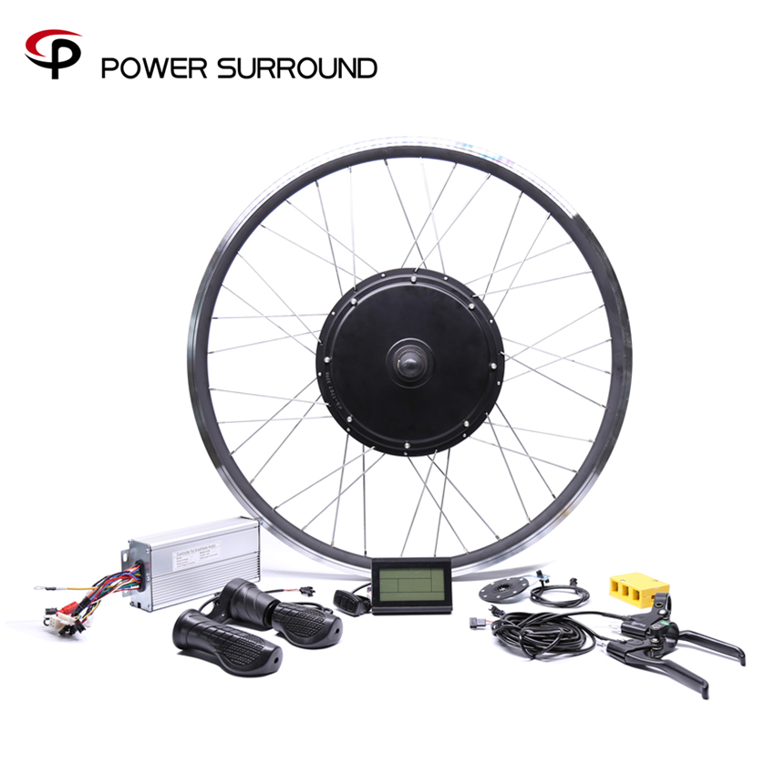 11.11 2018 Free shipping 48V 1000W rear high speed Motor Electric Bicycle eBike Conversion Kits for 20''26''28''700C motor wheel