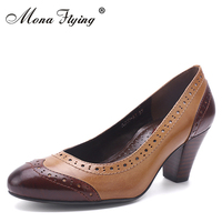 2017 Women Shoes Genuine Leather Women Office Shoes Round Toe High Heels Women Dress Shoes For