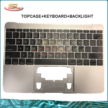 "Genuine Top case for MacBook 12"" A1534 US English with Keyboard Top Case 2015 2016 2017 Gold/Gray/Silver/Rose"