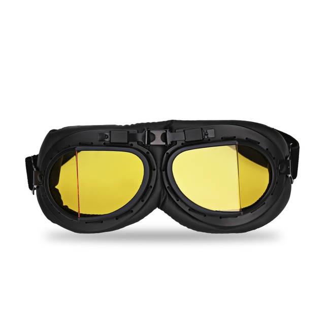 Limpar Óculos De Moto Jet Capacete Piloto Aviador Retro Óculos de Proteção  Óculos De Scooter Piloto d54e5847a1