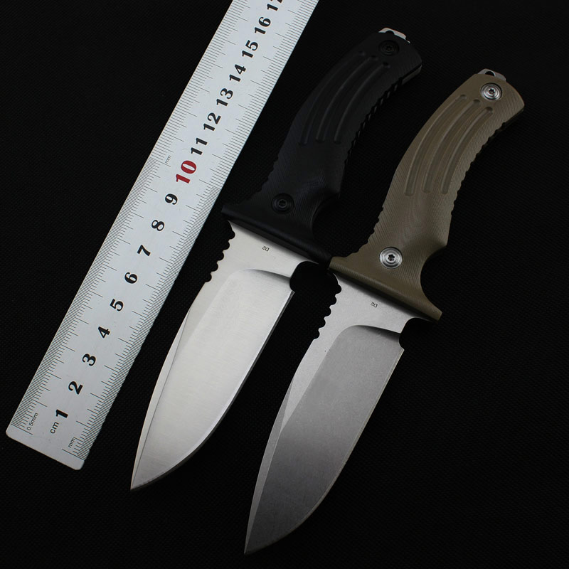 ADG Fox BF-700B D2 Fixed Knife Blade G10 Handle Outdoor Survival Camping Hunting Knife Tactical Utility Multitool Cutting Tool buck nylon handle tactical outdoor knife fixed blade serrated edge makes cutting half sawtooth hunting knife survival knives