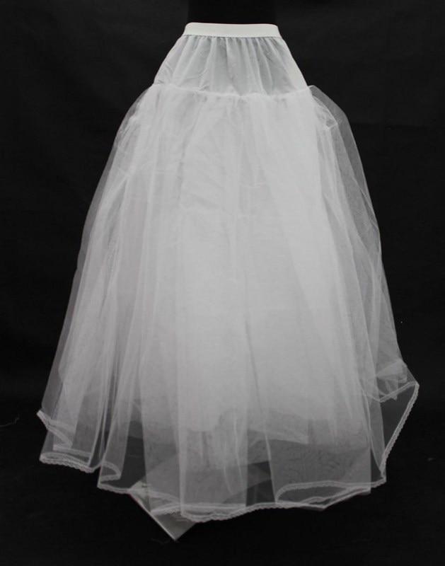 A Line Dress Wedding Accessories Underskirt Free Size 2018 Hot White Petticoat for Crinoline In Stock enaguas novia