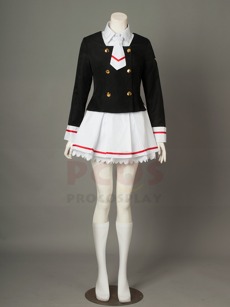Cardcaptor Sakura Clear Card Sakura Kinomoto Uniform Cosplay Costume mp003941
