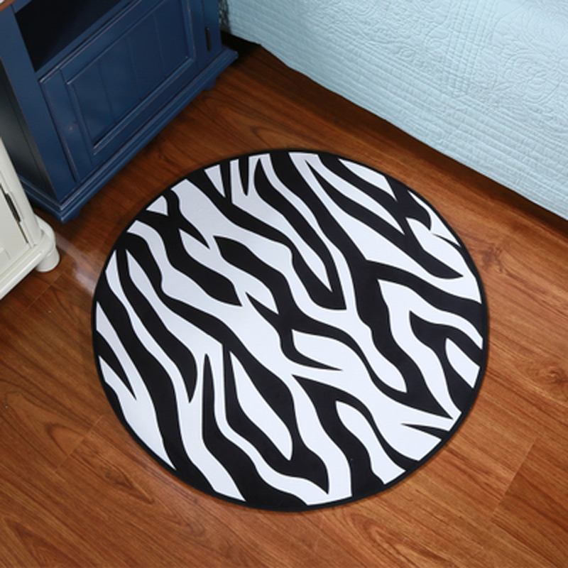 New 3D Retro Earth short villus Carpet Kids Bedroom Rugs Round Carpets for home living room Chair Mat alfombra Black and White