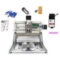 Grbl Control DIY Mini CNC 2418 Router + 500MW 2500mw 5500MW laser Engraver 2 in 1 CNC Milling Machine for PCB Woodworking