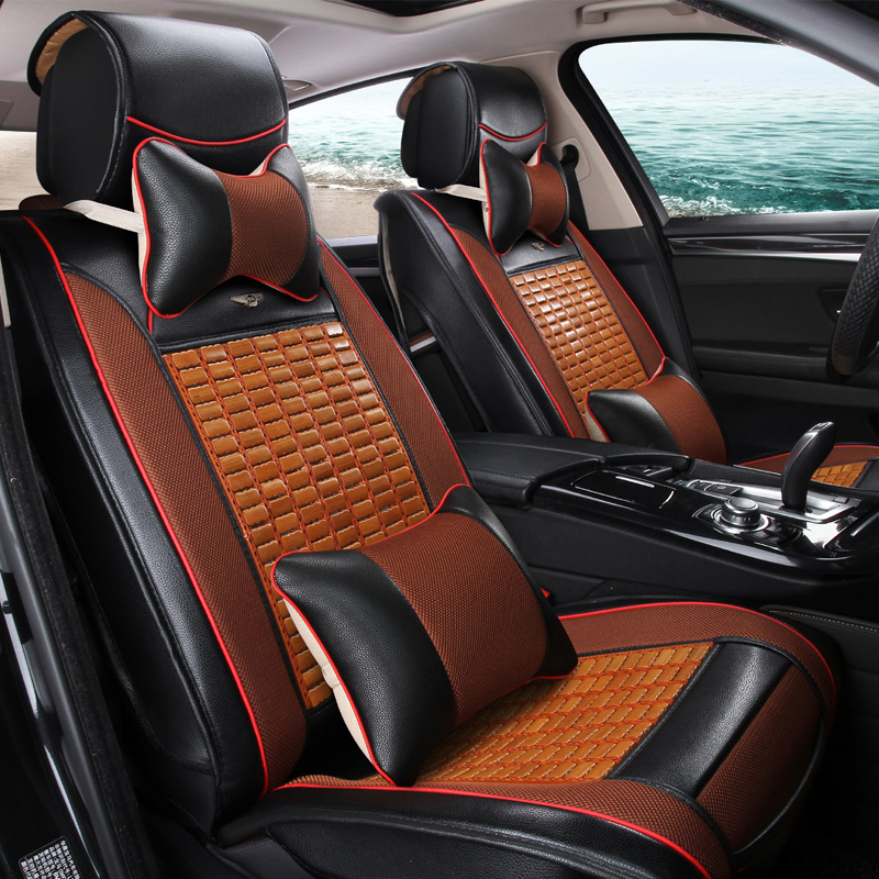 Im Sommer von Bambus MATS Cool Carbonisierung von Bambus Leder Sitz - Auto-Innenausstattung und Zubehör