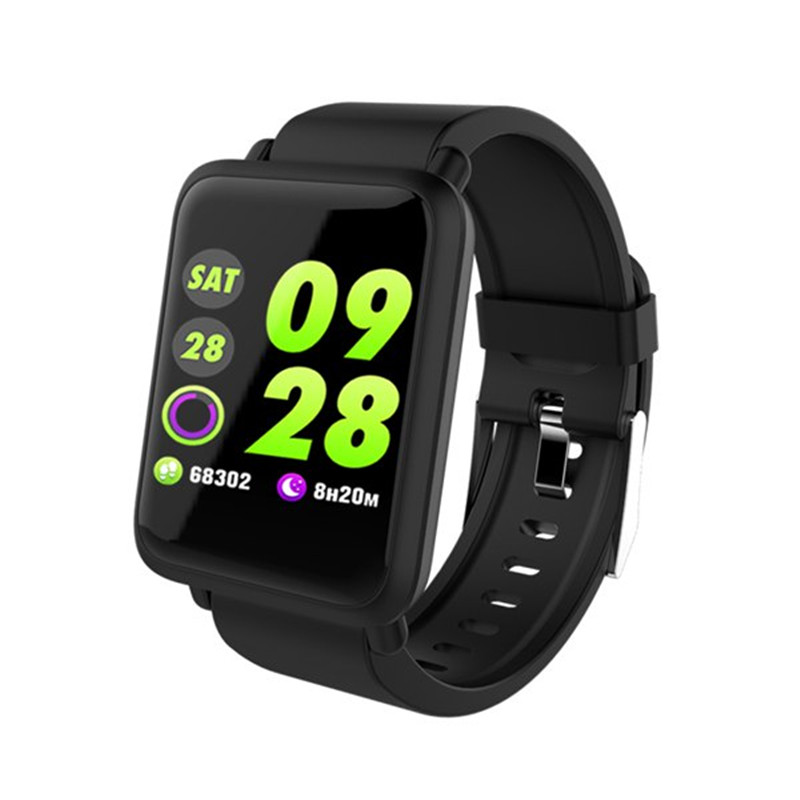 M28 reloj inteligente de pantalla grande corazón Monitor de presión arterial de oxígeno en la sangre SPO2 Multi deporte modo nadar Smartwatch IP67