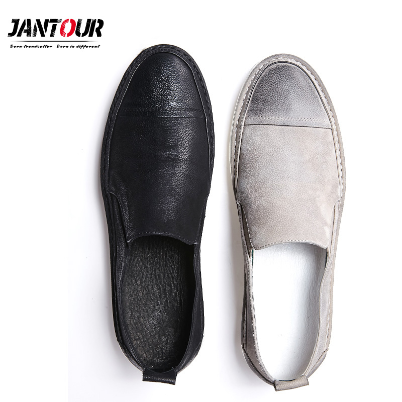 summer Men Genuine Leather Shoes Fashion black Slip On Shoes For Men Italian Leather Men Loafers Luxury Brand Men Shoes male2018 цена
