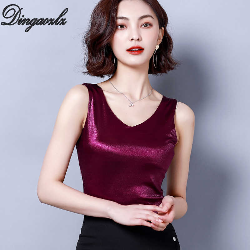 Dingaozlz New fashion knitted shirt Slim Summer Tank Tops Casual Sleeveless Women clothes blusas mujer 2019
