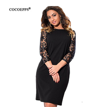 COCOEPPS large size  Women Dress  Floral Print Party Dresses Casual Elegant Plus Size women big clothing Vestidos Feminino