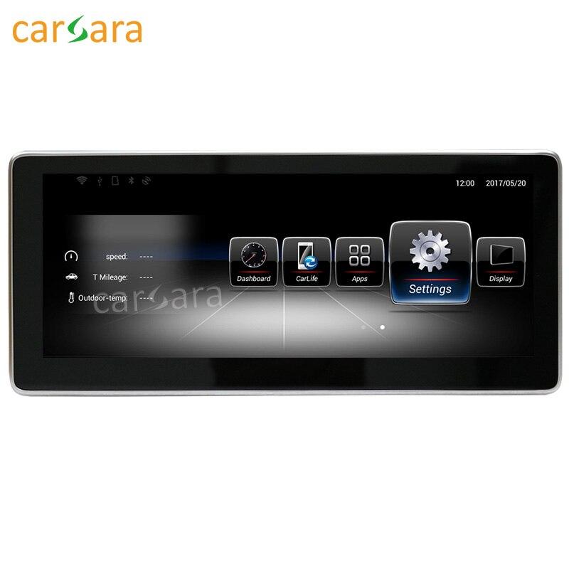 Carsara Android Pantalla de navegación para Benz GLA una clase W176 2013-15 10,25 Pantalla táctil GPS estéreo dash reproductor multimedia