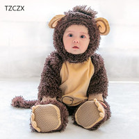 TZCZX 1pcs Children Baby Boys Girls Novelty Rompers Cartoon Monkey Christmas Halloween Jumpsuit For 3 Month