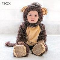 TZCZX 6230 Children Baby Boys Girls Novelty Rompers Cartoon Monkey Christmas Halloween Jumpsuit For 3 Month