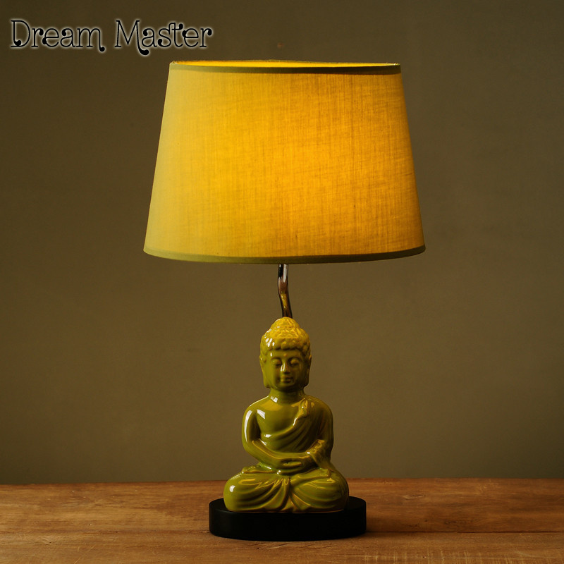 Superb Nordic Table Lamp Creative Minimalist Modern Retro Buddha Lamp Bedroom  Bedside Lamp Postage Free