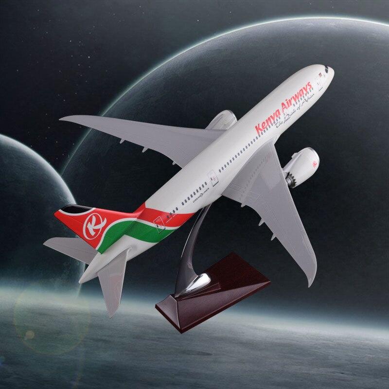 43 cm résine B787 Kenya Airlines avion modèle Boeing 787 Airbus Airways modèle Aero Kenya avion modèle créatif voyage Souvenir
