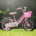 Bicicleta de los niños de la muchacha de 3 años de edad, niña de 5 años de edad de La Princesa de 4 años de edad de la princesa bicicleta ayuda paso de coches